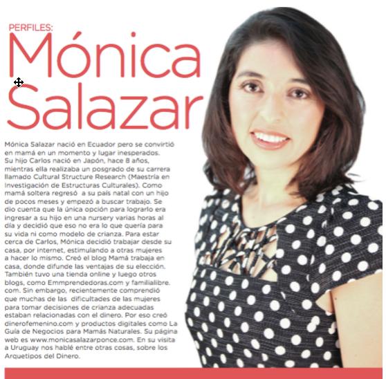 Tomado del reportaje de la revista Ser Familia, #21 de mayo 2014. Montevideo, Uruguay