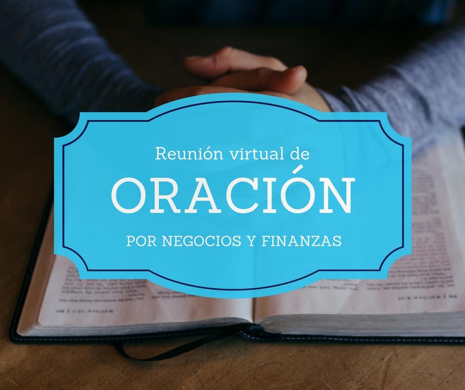 Reunión de oración por finanzas y negocios